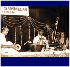 Concert in Lucknow with Umaiyalpuram Sivaraman.